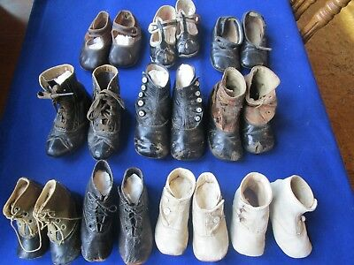 10 pairs victorian baby shoes high tops and all sorts
