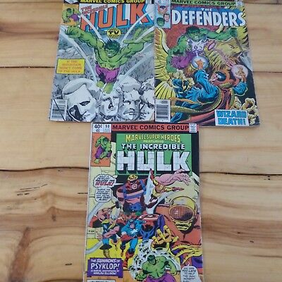 3 The Incredible Hulk Marvel Comics from 1980- Character Co-Creator Stan Lee