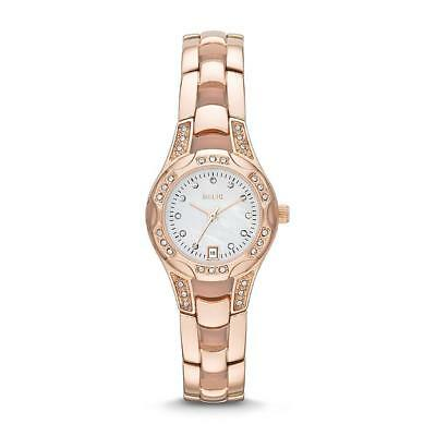 Relic Ladies Calendar Date Watch with White Mother-of-Pearl Dial and Rose Gold I