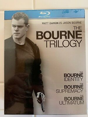 The Bourne Trilogy (Blu-ray Disc, 2010, 3-Disc Boxed-set, Region-free) NEW