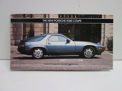 "1985 Porsche Pricing Brochure ""New Porsche 928 S Coupe"" Showroom Sales Folder"