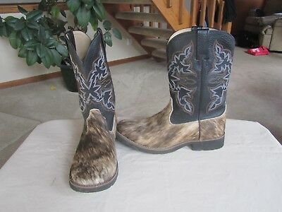 7ef5eb24f6f BLACK COW GIRL Boots Size 9 Womens Dress scrunched western country ...