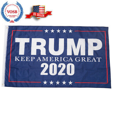Trump President 2020 Keep America Great Flag Polyester Brass Grommets 3 X 5 ft