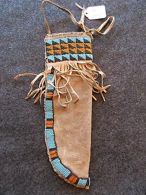 Beaded Knife Sheath Parfleche Liner  Native American Indian   Item Du-01235