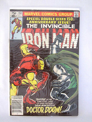 The Invincible Iron Man # 150 Double Sized Marvel Comic Book Doctor Doom 1981