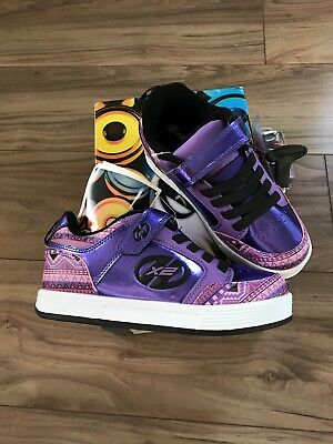 New Girls Purple Print Heelys (Thunder) - Size 2