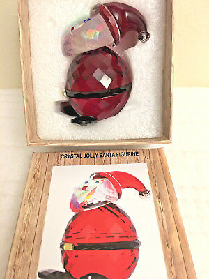 Simon Designs Crystal Jolly Santa Figure Nib