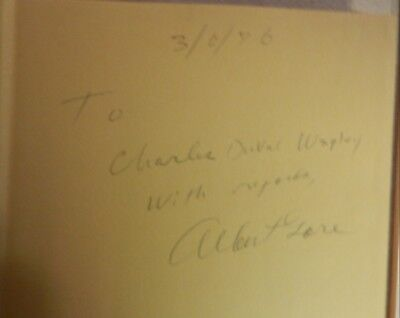 """Rare Albert Gore Sr. signed/autographed book """"Let The Glory Out""""-dated 3/6/76."""