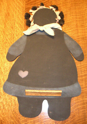"""Vintage """"black Mammy"""" Americana Chalk Board - Nicely Made-Great Condition"""