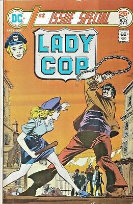 1St Issue Special #4  Lady Cop  Dc 1975  Nice!!!