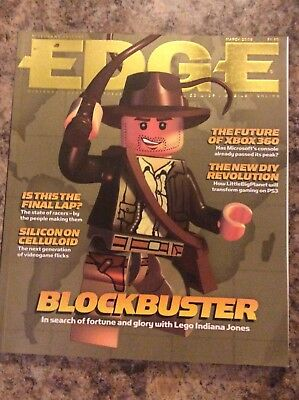 Edge Magazine March 2008 Issue 186 Lego Indiana Jones Cover