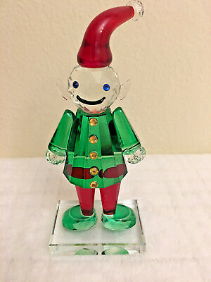 Simon Designs Crystal Elf Figurine Figure Nib