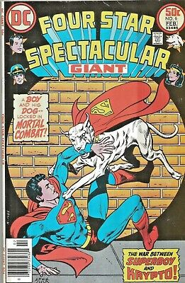 Four Star Spectacular #6  Hard To Find Last Issue   Giant-Size  Dc 1977 Nice!!!