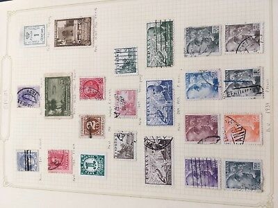 Spain & Portugal incl colonies & better values stamps on album pages