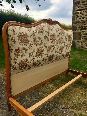Upholstered French Farmhouse Country style Double Bed Frame. Shabby Chic.