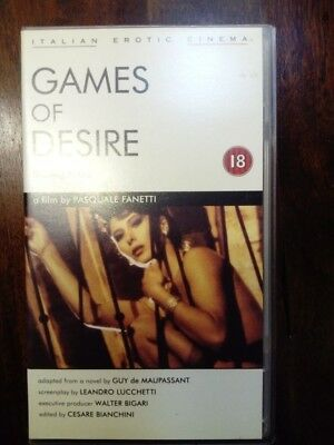 Rare Vhs Tape Games Of Desire