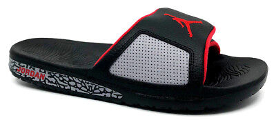 928984d5a8923f JORDAN HYDRO III Retro Mens Slide Sandal Black University Red 854556 ...