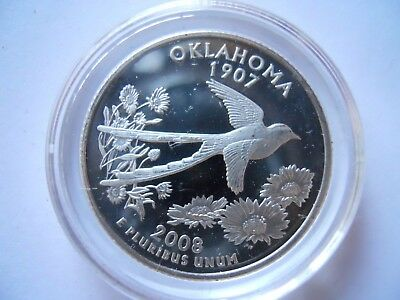 2008-S Silver Oklahoma State Quarter Proof