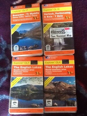 OS Explorer Maps The English Lakes ordnance Laminated £6 EACH will combine post