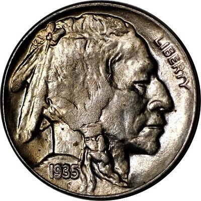 1935-D 5C Buffalo Nickel Choice AU  K5678