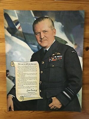 1943 Canadian Ad Wwii Billy Bishop Victoria Cross Rcaf Recruit Royal Air Force