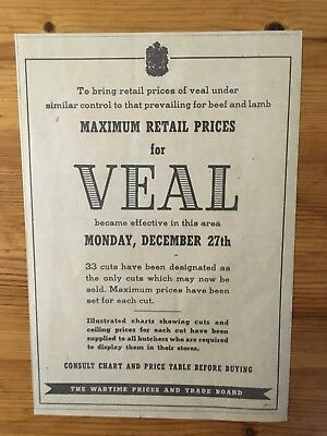 1943 Canadian Ad Wwii Canada Ration Rationing Veal Wartime Price Control