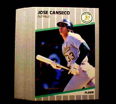 JOSE CANSECO ~ 1989 Fleer #5 Card ~~~~~~~~~~ LOT OF 50 CARDS ~ VERY LOW PRICE!!!