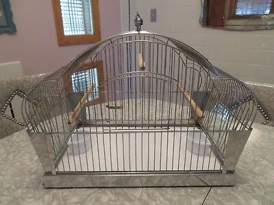 Nice Vintage Art Deco 1950s Parakeet/Canary Cage