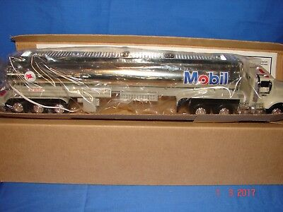 1994 Mobil Chrome  Toy Tanker  Truck - Credit Card Limit ED-Hess