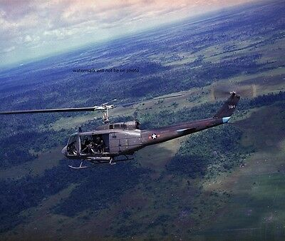 "Bell UH-1H Huey Helicopter in flight 8""x 10"" Vietnam War Photo Picture 69"