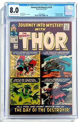 CGC 8.0 JOURNEY INTO MYSTERY with THOR #119 * 1st Hogun Fandrall Volstagg apps