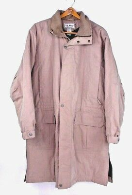 L.L. Bean Lambswool Thinsulate Ultra Insulated Winter Long Coat Overcoat Large