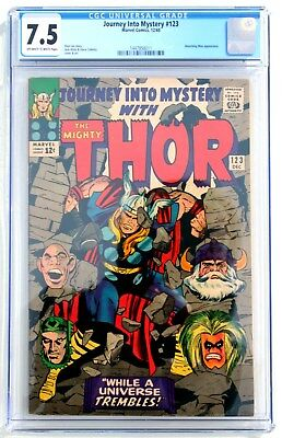 CGC 7.5 JOURNEY INTO MYSTERY with THOR #123 * 1965 * Marvel Comics
