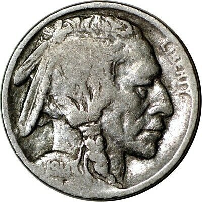 1914-S 5C Buffalo Nickel VG  K5698