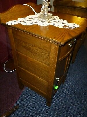 """Antique Oak Nightstand end table Washstand  1900's refinished 18"""" wide in Pa."""