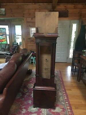 18th Century Flame Mahogany Long Case Clock Case only