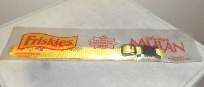 "Friskies Cat Collar Disney Mulan 7/16"" Wide Pet Collar Yellow Nylon RARE NEW"