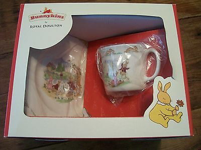 Child's DIsh Set, Cup, Bowl and Plate - Royal Doulton Bunnykins-  New in Box