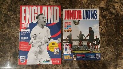 England v USA Official Wembley Programme With Free Pullout 15th November 2018