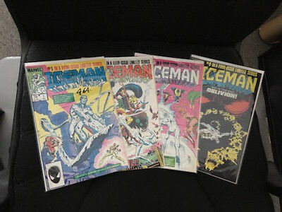 Marvel - ICEMAN #1,2,3,4 Comic Lot!!  FN/NM  1984 LOT OF (4)
