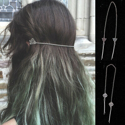Norse Celtic Knot Viking Hair Clip Hair Pin Antique Silver Stainless Steel