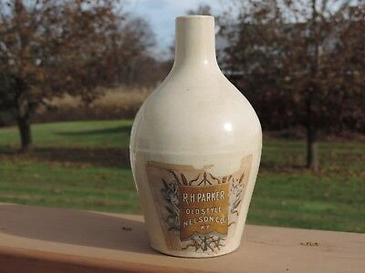 old 7 inch R H Parker stoneware jug nelson Co. KY
