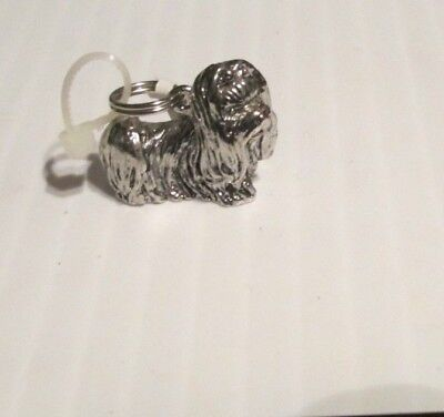 Silver Colored Bracelet Charm of Maltese Puppy Dog