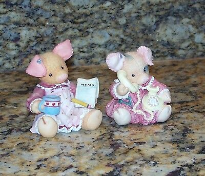 Enesco This Little Piggy Figurines Sow How Are Things & This Little Does It All