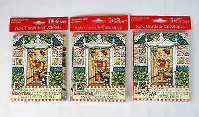 Mary Engelbreit Christmas Note Cards & Envelopes 3 Pks 30 Total New Year Welcome