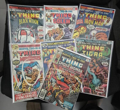 11 Issue Lot of Marvel Two in One Comic Books Bronze Age 20 to 35 cent FN/NM