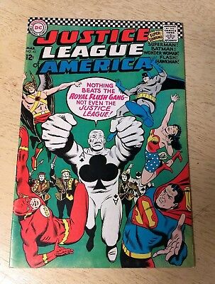 Justice League Of America #43 First Royal Flush Gang FN
