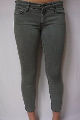 MOTHER The Looker Cropped Skinny Jeans Size 29 Fantasy Forest Green Slim Stretch