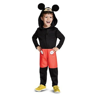Toddler Boys Mickey Mouse Clubhouse Hooded/Hood Ears Halloween Costume~2/2T