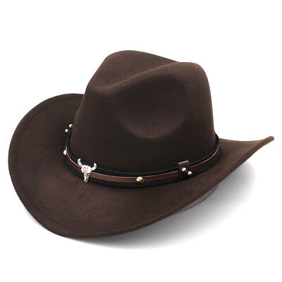 Cute Kid Baby Girl Boy Western Wool Cowboy Hat Child Medium Brim Fedora Jazz Cap